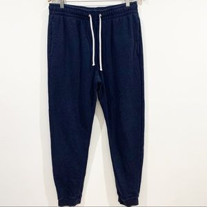 H&M Men's suede Pockets joggers Sz Large